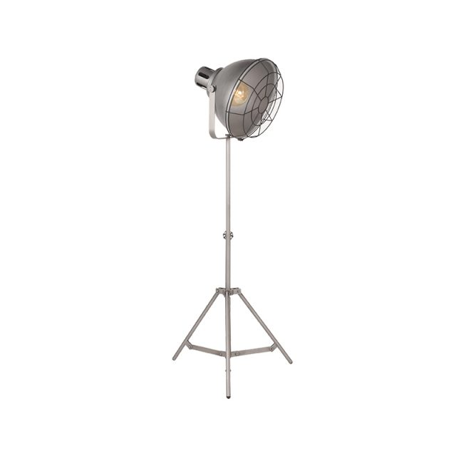 Vloerlamp Max Burned Steel Metaal 60x60x145 170 Cm Perspectief Aan