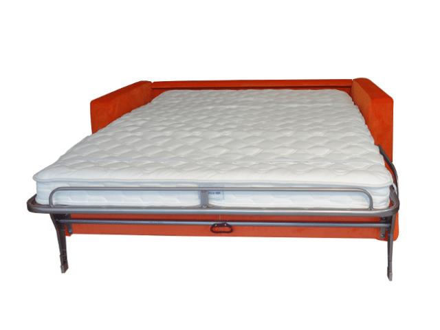 Zo ziet het bed eruit van de slaapbank Richard