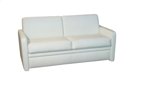 Sofa bed Straight in leather