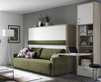 Wall bed Space Horizontal With Sofa 2