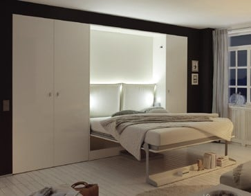 Wall bed Space With Table Open 2