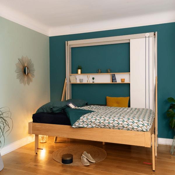 Liftbed up horizontaal als bed