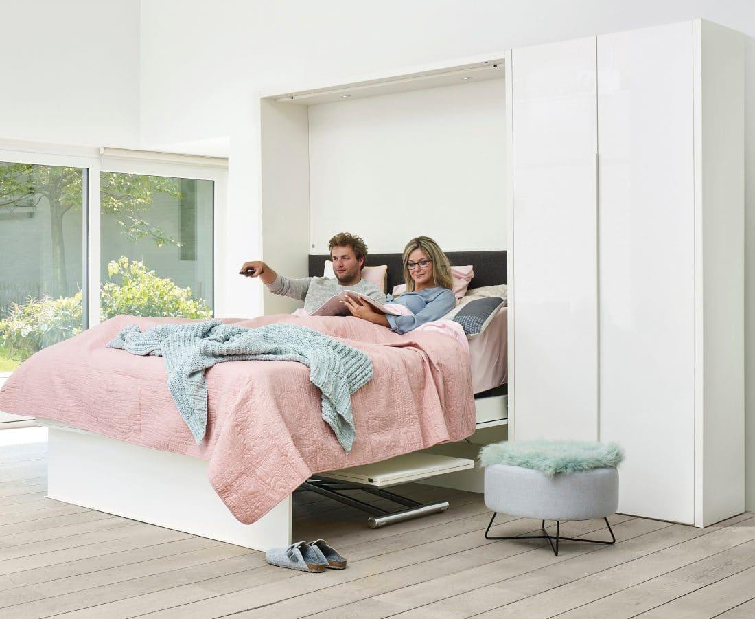 Gezellig in het bed van de bedkast Loft