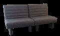 Sofa bed Alexa 2x80 Gray 2a
