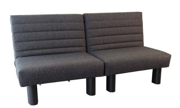 Sofa bed Alexa 2x80 Gray 2a