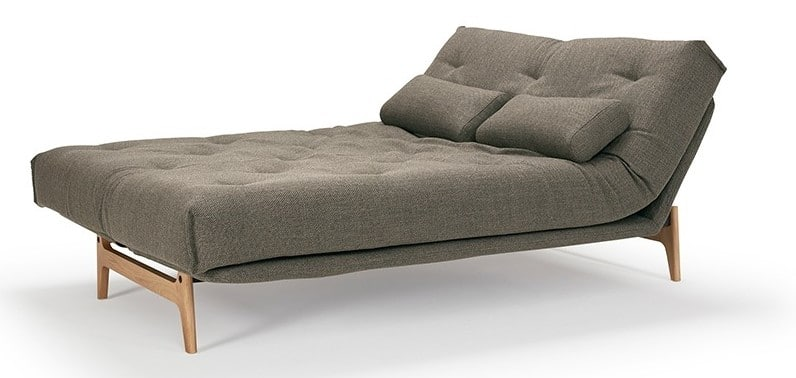 Sofa bed Aslak folded out as a bed with head adjustment