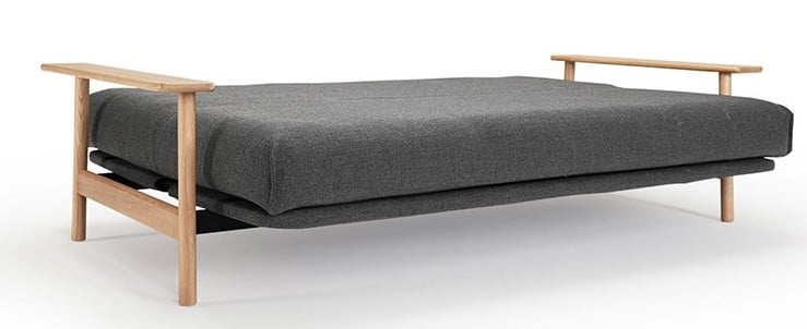 Sofa bed Balder fully unfolded in the bed position