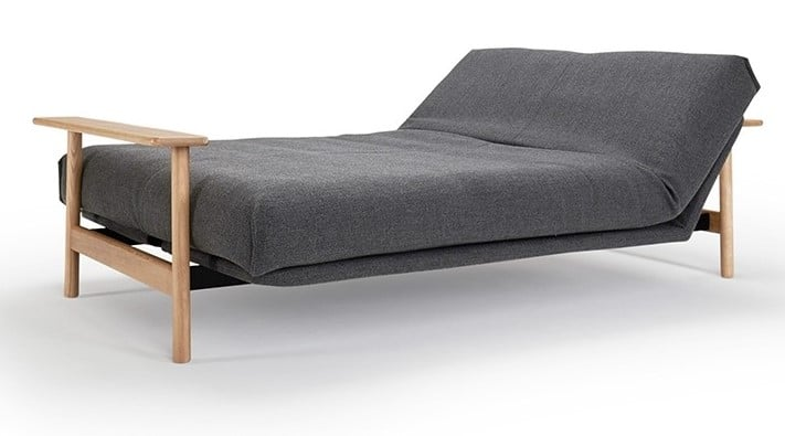 Sofa bed Balder folded out as a bed with head adjustment upwards