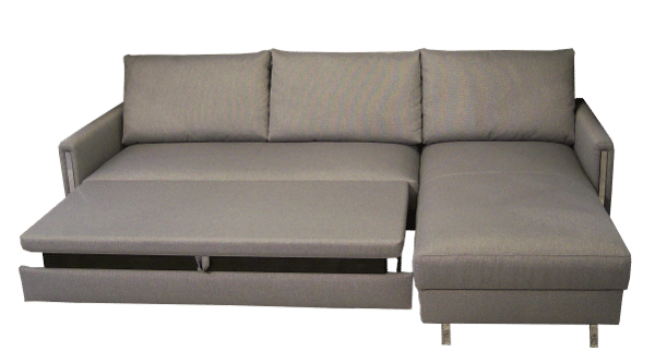The corner sofa bed Chris can be opened halfway, creating a wonderful relaxing position