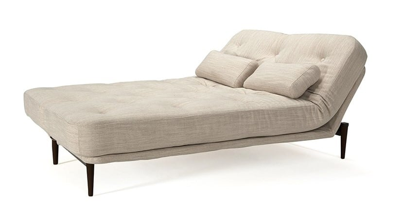 The bed of the Colpus sofa bed with head adjustment