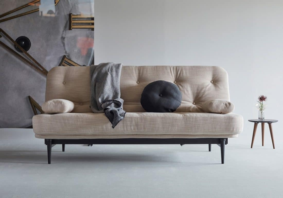 The Colpus black sofa bed as a sofa