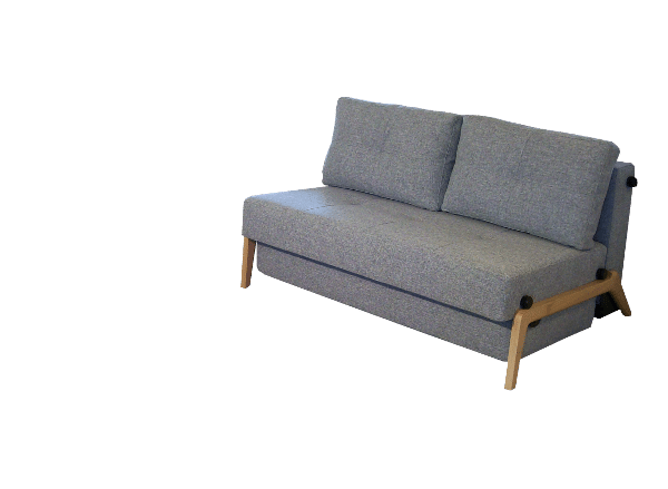 Sofa bed Cubed de Luxe with oak wooden leg