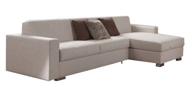 Corner sofa bed Genoa with longchait with storage compartment