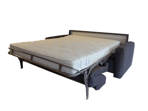 Slaapbank Real 160x200 cm. uitgeklapt als bed