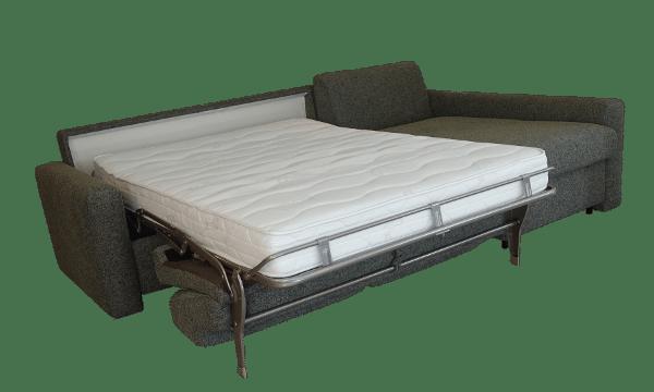Hoekslaapbank Real met uitgeklapt bed met dikke pocketveringmatras voor elke nacht
