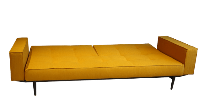 Split Back Sharp sofa bed as a bed