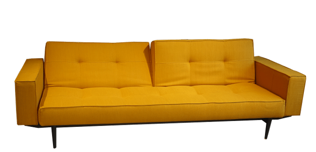 Sofa bed Split back with a back section in a relaxing position