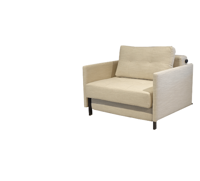 Sleeping chair Cubed with armrests