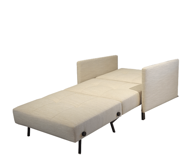 Sofa bed Cubed de luxe with arms folded out as a bed