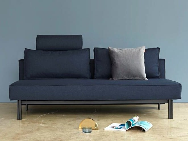Sly Sofa Bed Head Rest 528 Mixed Dance Blue Black Legs 1 2