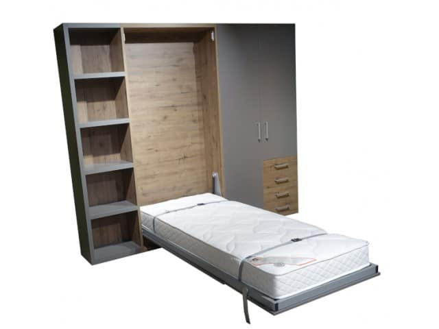 The single Rapido wall bed with fully folded down bed