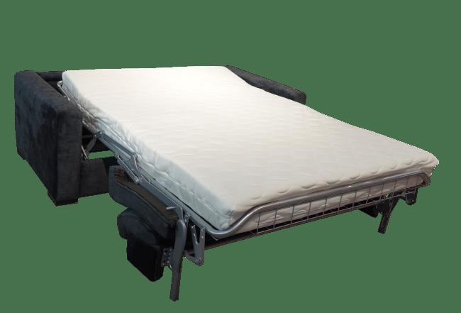 Uitgeklapt ziet het bed van de slaapbank Kiwi er zo uit