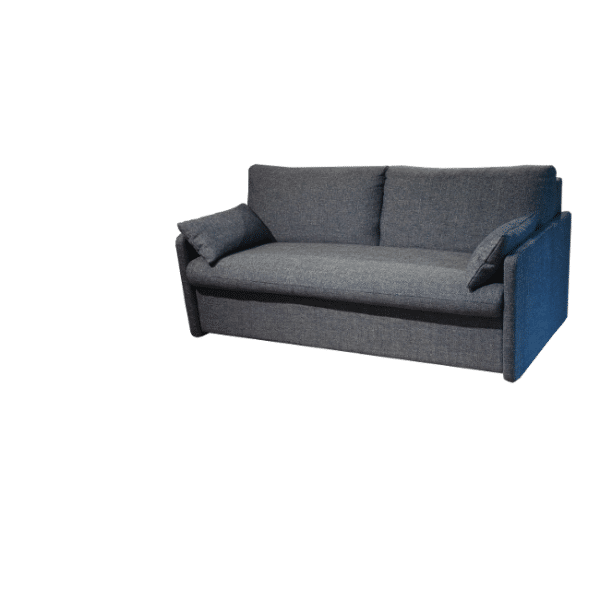 Due to the narrow arms, the Marnix sofa bed does not take up much extra space
