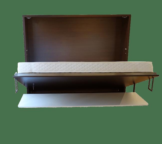 De bedkast Easy Desk horizontaal half opengeklapt