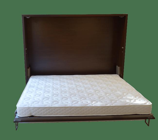 Horizontaal uitklapbare bedkast Easy Desk uitgeklapt als bed