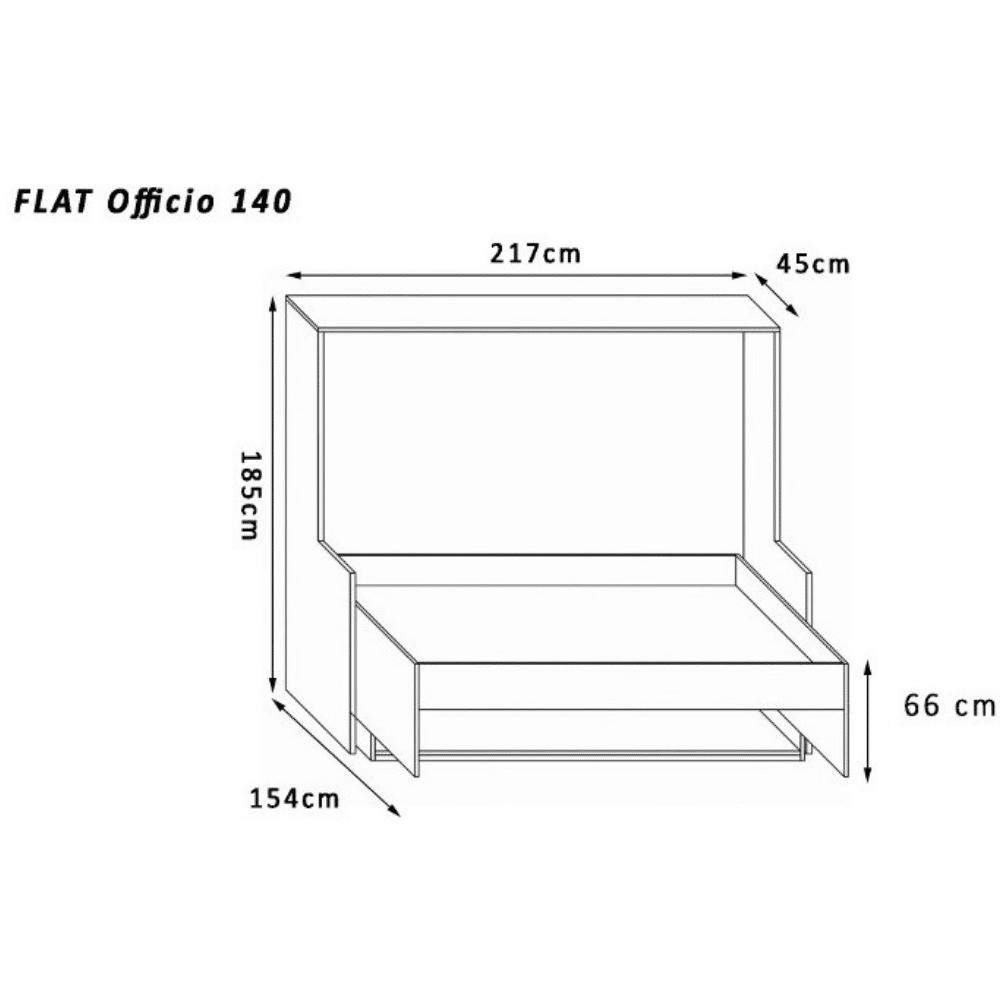 Wall bed Flat Officio 140 X 200