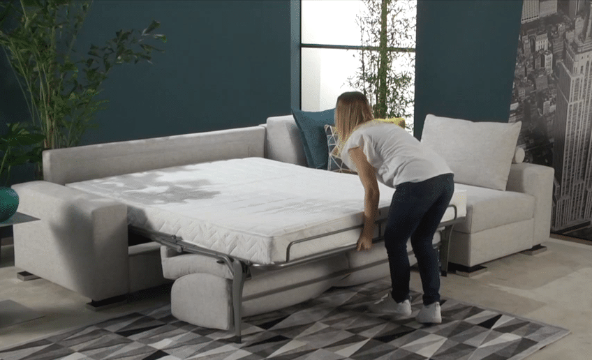 The Prime corner sofa bed as a bed