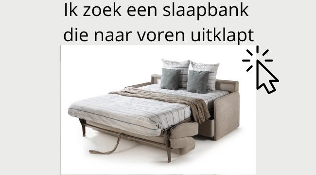 Sofa beds that fold forward