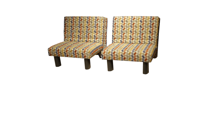 Two Alexa 80 sleeping chairs are shown slightly apart