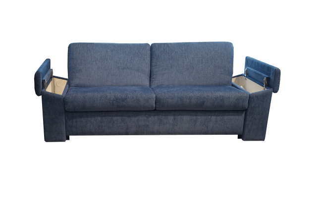 Sofa bed Box with storage space in the armrests