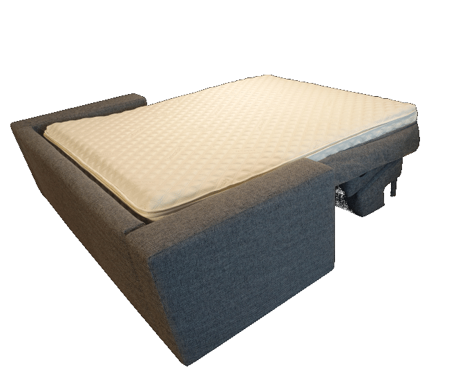 Sofa bed Box spring folded out as a bed