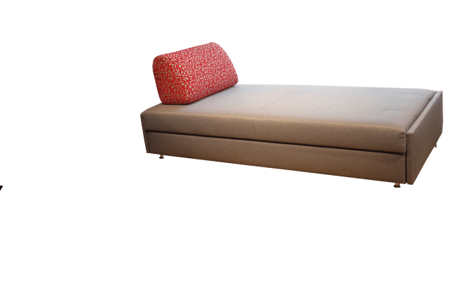 Maxxi-Zoom sofa bed with one back cushion as a daybed