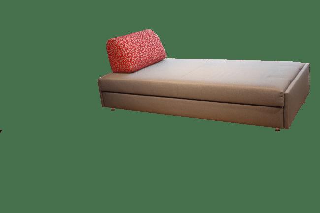 Slaapbank Maxxi-Zoom met één rugkussen als Daybed
