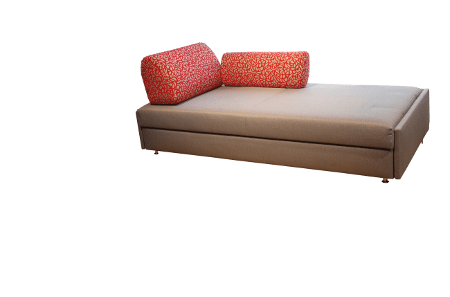 Maxxi-Zoom sofa bed with 1 back cushion and 1 side cushion as a kind of daybed