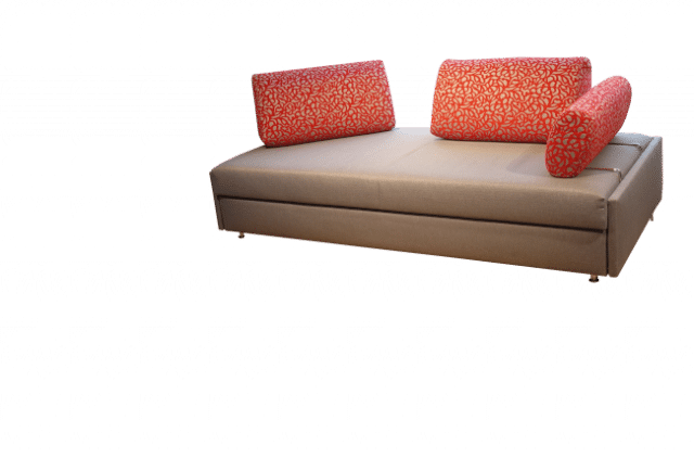 Maxxi-Zoom sofa bed with 2 back cushions and one side cushion