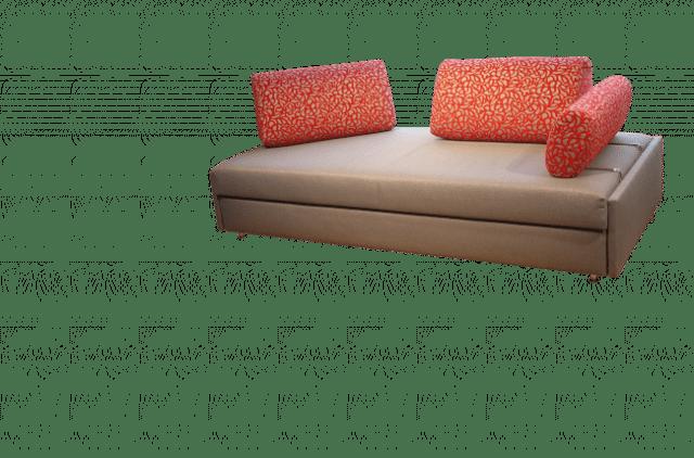 Slaapbank Maxxi-Zoom met 2 rugkussens en één zijkussen