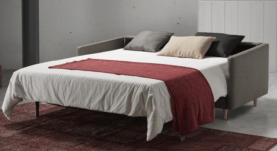 Slaapbank of bedbank Rolly met uitgeklapt bed