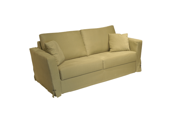 The Free sofa bed in a green cotton fabric