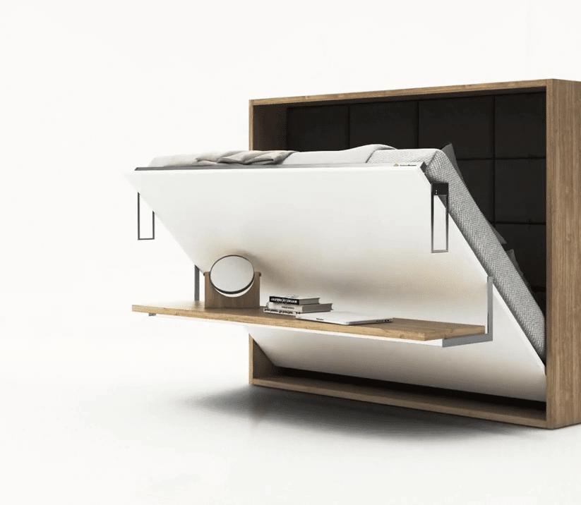Bedkast Easy Desk onderweg van desk naar bed