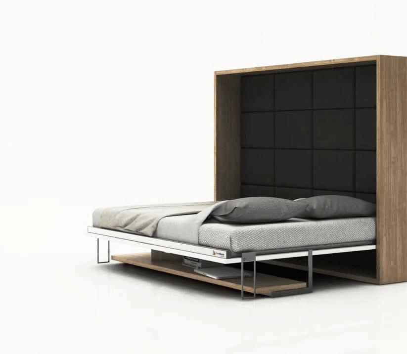Bedkast Easy Desk uitgeklapt als bed