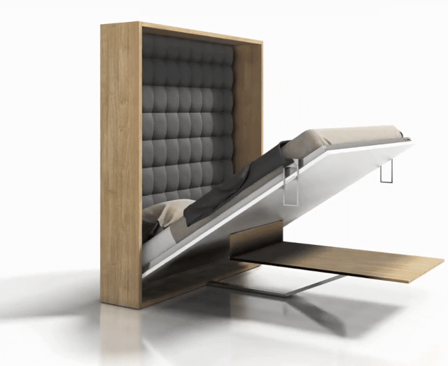 Wall bed or folding bed Easy with table on the way