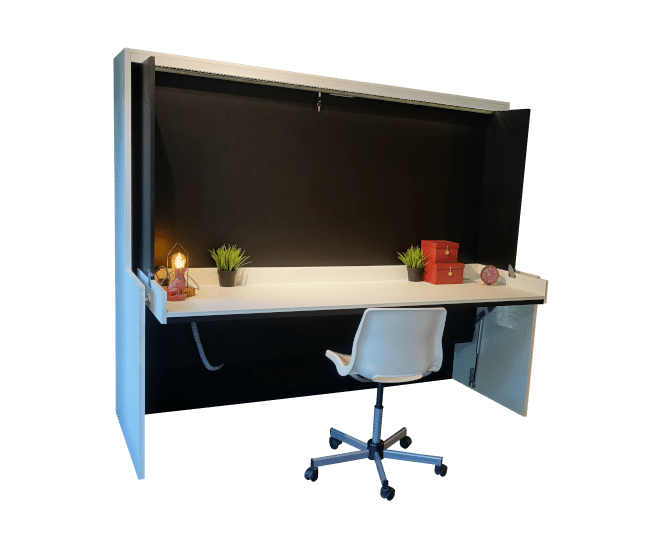 Folding bed Flat Officio with a spacious desk on which you can leave a lot.