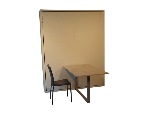 Wall bed Penelope Dining with unfolded table