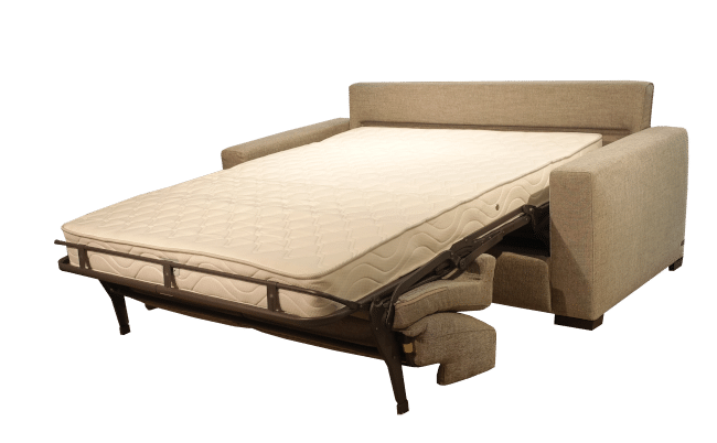 The unfolded Magnum sofa bed with Simmons 18 cm pocket sprung mattress. fat