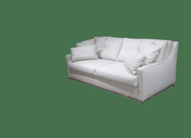 Door de 6 kussens en de diepere zit heeft de slaapbank Charme een heerlijk zitcomfort