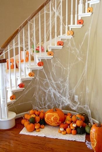 herfst decoratie,herfst trap,halloween versiering